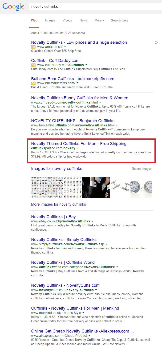 recherche google novelty cufflinks