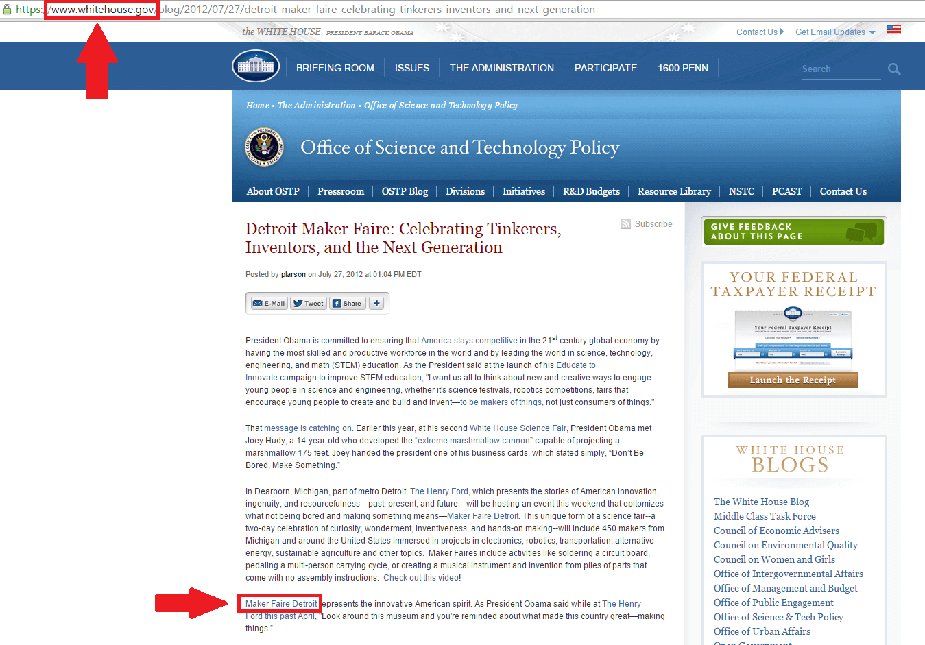 whitehouse.gov backlink