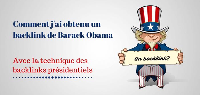 Pierre-Antoine Levesque : comment obtenir un backlink de Barack Obama