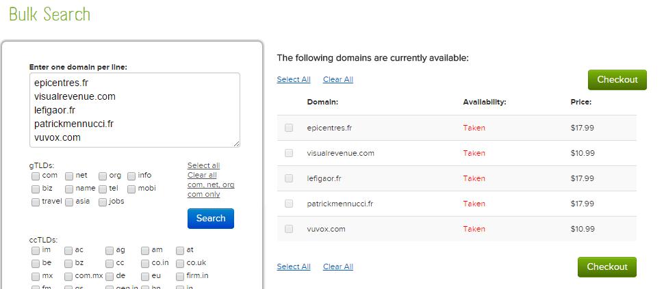 nom de domain disponible en bulk check