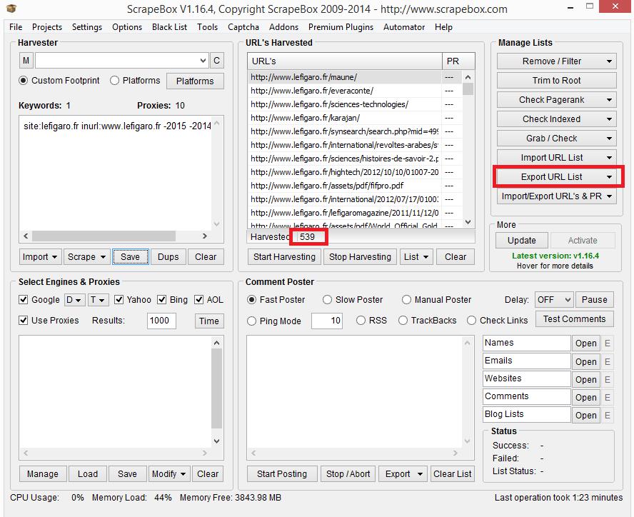 Récupérer un nom de domaine expiré avec Scrapebox
