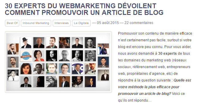 les webmarketeurs francophones