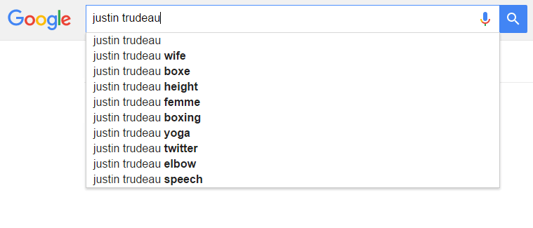 google suggest exemple