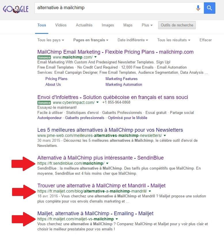 trouver de clients sur google avec la recherche alternative
